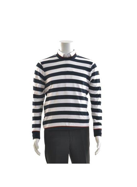 PAUL & SHARK White & Navy Hori Striped Sweater