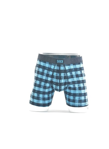SAXX Undercover Blue Gingham Boxer Brief No Fly