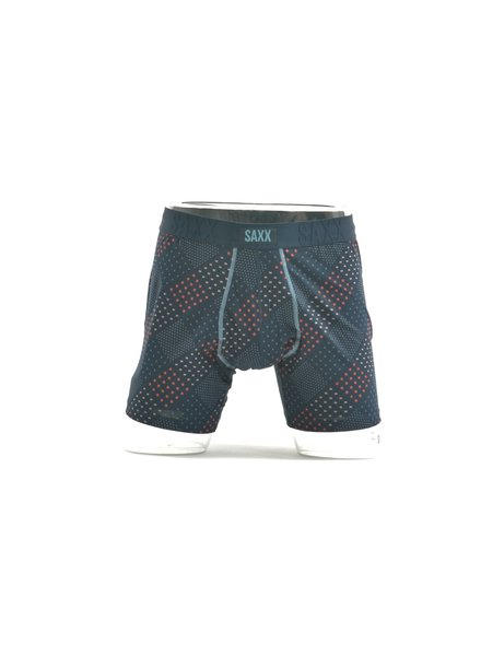 SAXX Undercover Navy Red Dots Boxer Brief No Fly