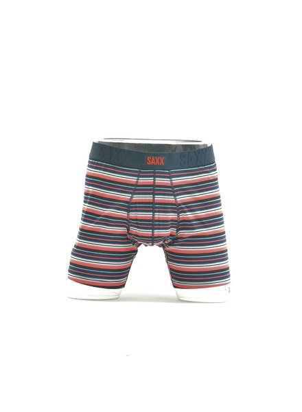 SAXX Undercover Red & Navy Stripe Boxer Brief No Fly