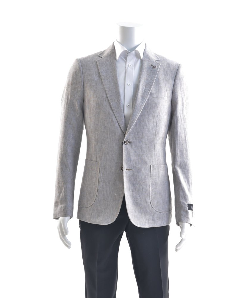 SUITOR Slim Fit Tan and Blue Sport Coat