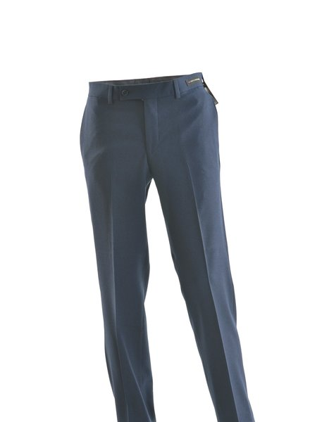 JACK VICTOR Slim Fit Navy Flannel Dress Pant