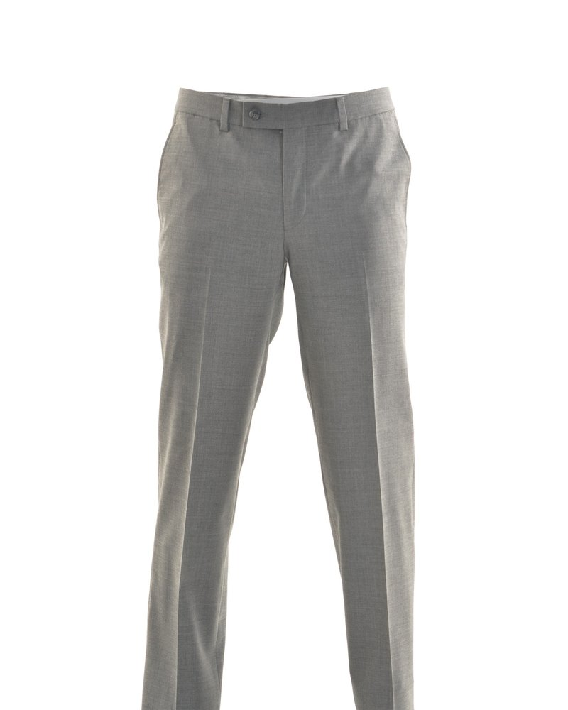 RIVIERA Modern Fit Mid Grey Washable Dress Pant