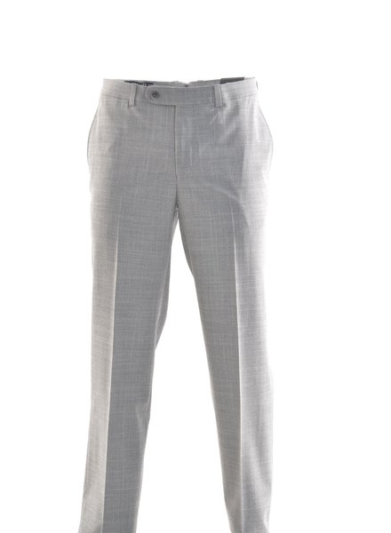 RIVIERA Modern Fit Light Grey Washable Dress Pant