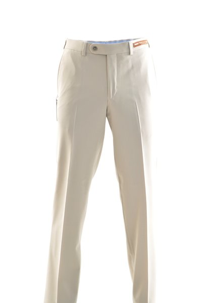 RIVIERA Classic Fit Cream Washable Dress Pant