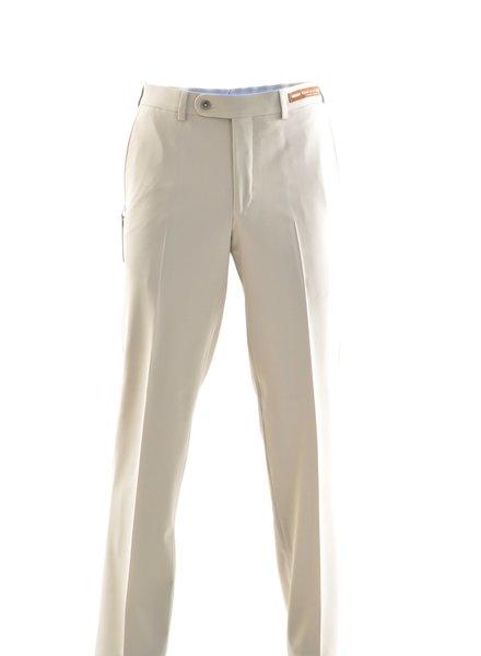 RIVIERA Classic Fit Cream Washable Dress Pant