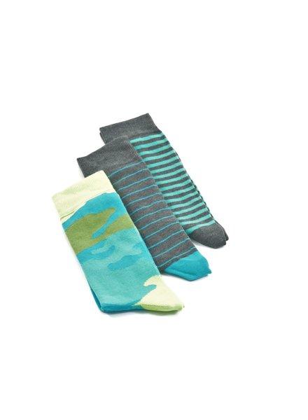 LORENZO Green Blue Multi Pack Socks