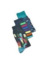 BUGATCHI UOMO 3 Pack Gift Set Socks Night Blue