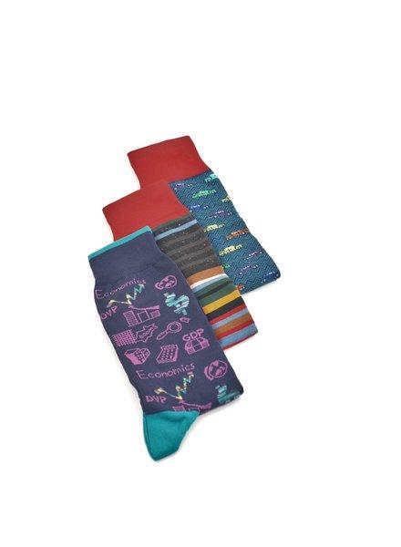 BUGATCHI UOMO 3 Pack Gift Set Socks Red