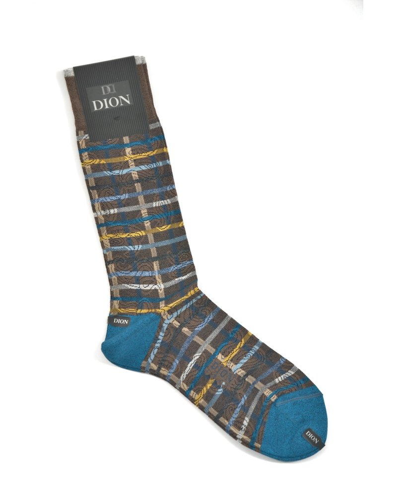 DION Brown Multi Stripe Sock