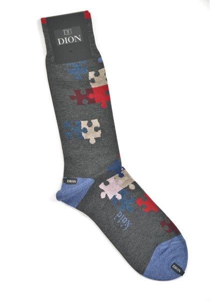 DION Grey Puzzle Sock