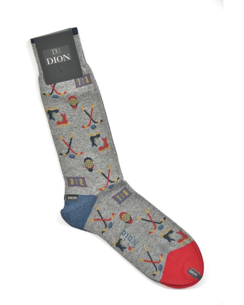DION Grey Hockey Sock