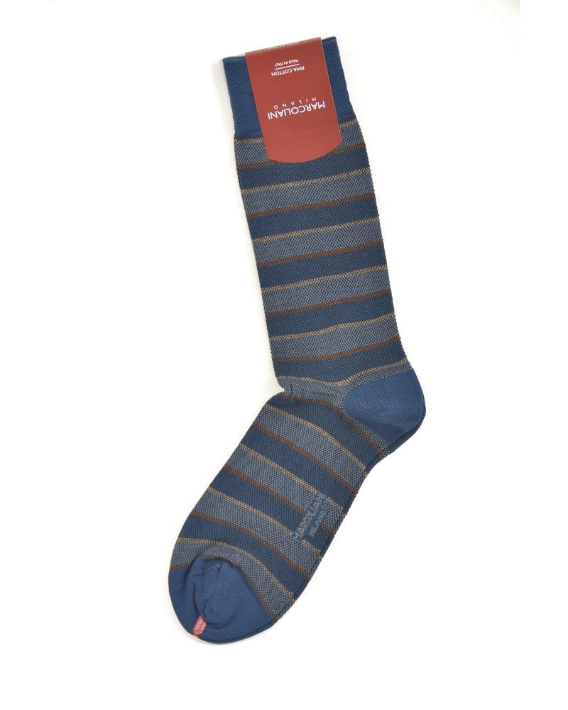 MARCOLIANI Pima Cotton Club Stripe Socks