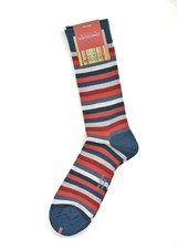 MARCOLIANI Pima Cotton Lisle Rainbow Stripe Socks