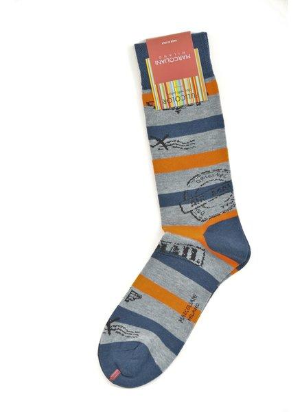 MARCOLIANI Pima Cotton Air Mail Socks