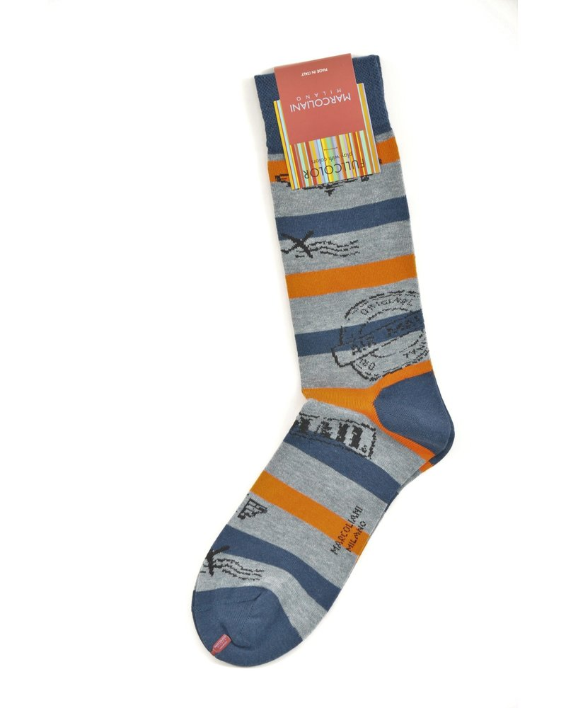 MARCOLIANI Pima Cotton Air Mail Socks
