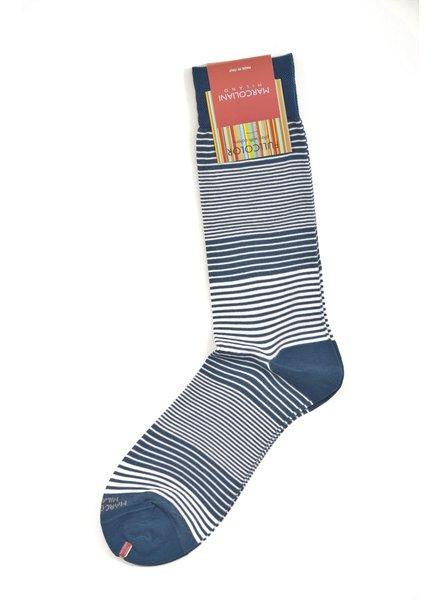 MARCOLIANI Pima Cotton Lisle Marina Stripe Socks