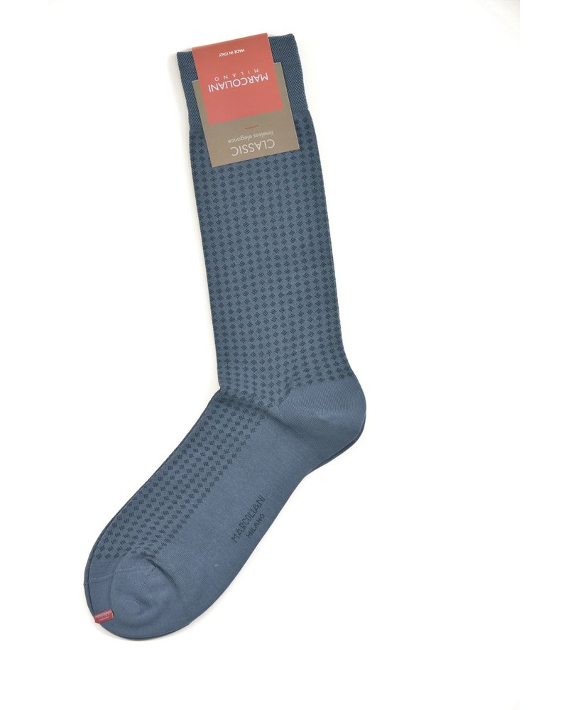 MARCOLIANI Pima Cotton Lisle Micro Diamonds Socks