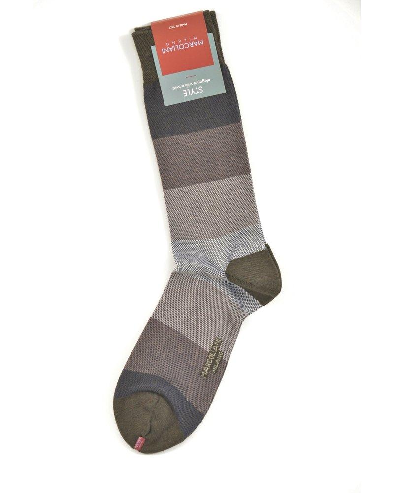MARCOLIANI Pima Cotton Pique Color Blocking Socks