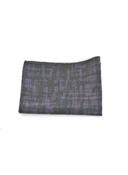 MONTEBELLO Black & Purple Pocket Square