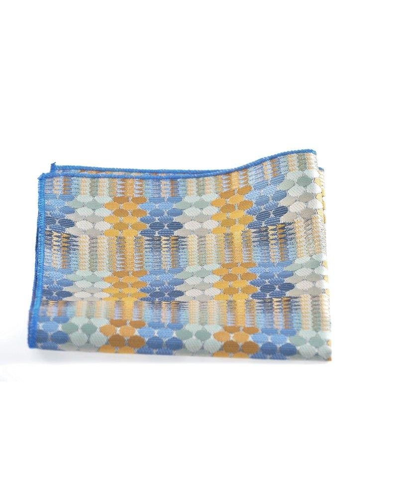 MONTEBELLO Blue & Gold Pocket Square