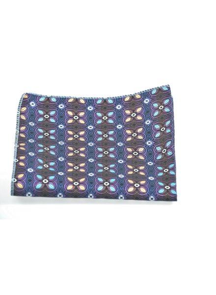 MONTEBELLO Purple Floral Pocket Square