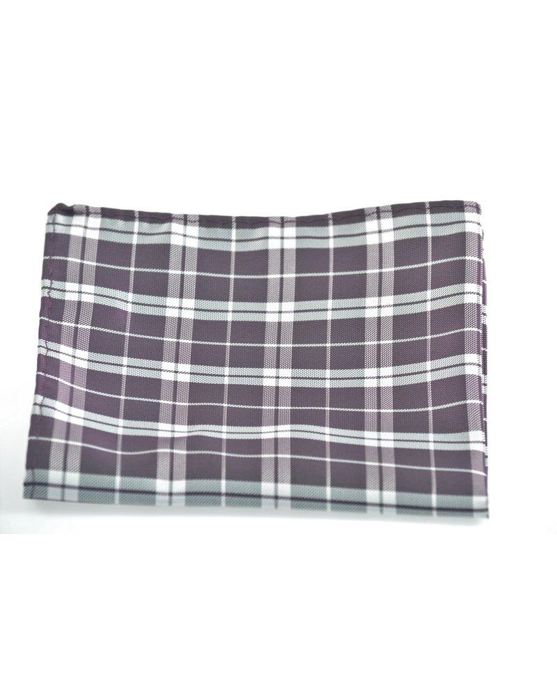 MONTEBELLO Purple Plaid Pocket Square