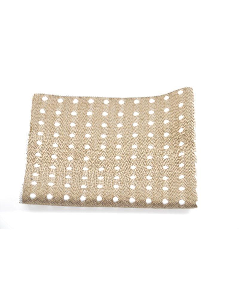 MONTEBELLO Tan Dot Pocket Square