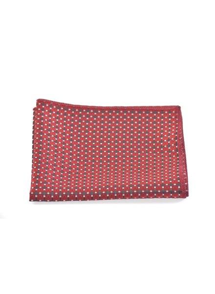 MONTEBELLO Black & Red Pocket Square