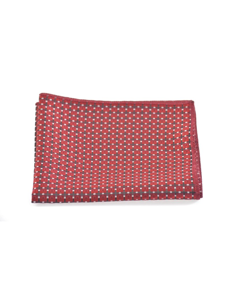 MONTEBELLO Black & Red Pocket Square