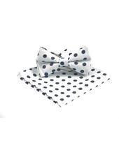 MONTEBELLO Grey with Navy Dots Bowtie