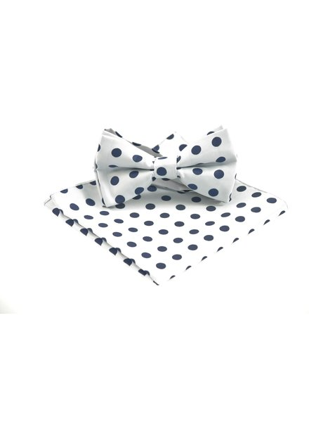 Grey with Navy Dots Bowtie