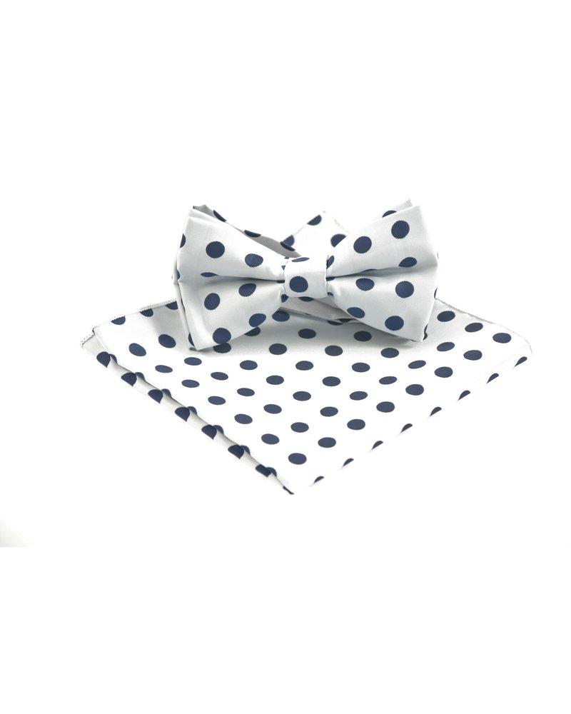MONTEBELLO Grey with Navy Dots Bowtie