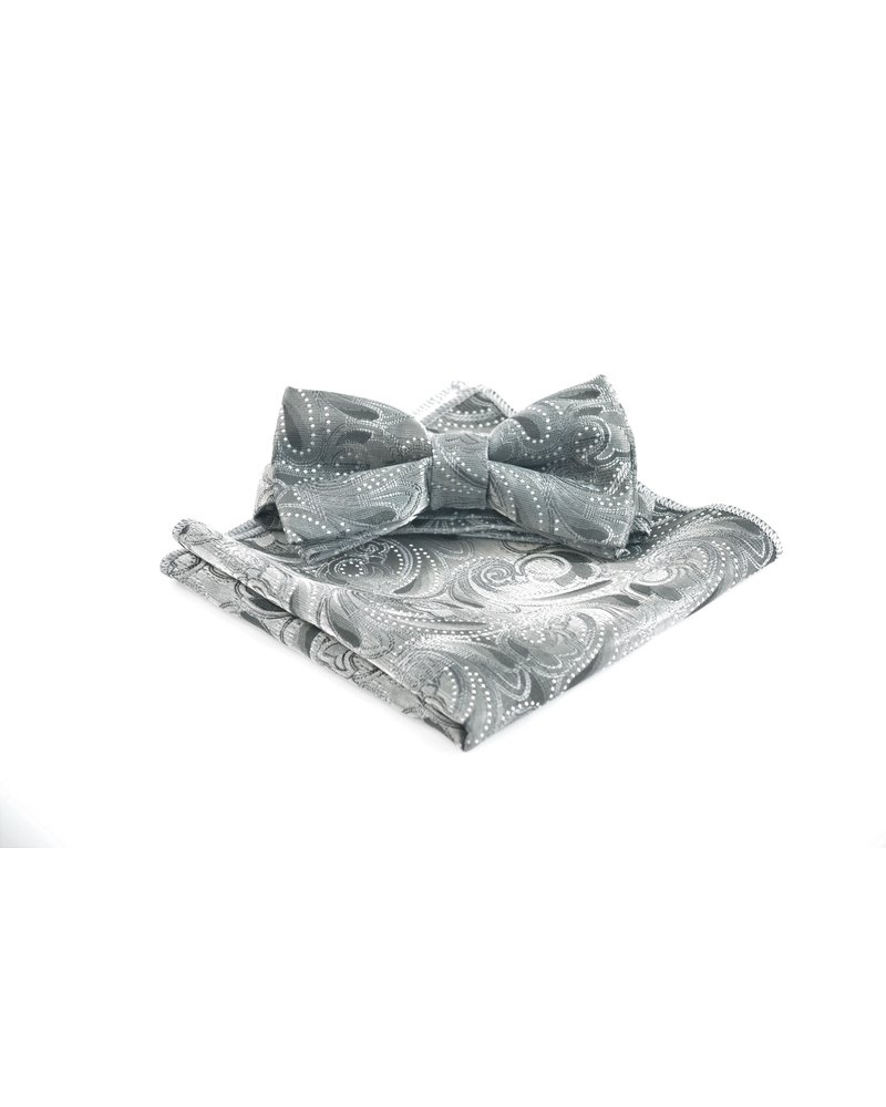 MONTEBELLO Grey with Grey Paisley Bowtie