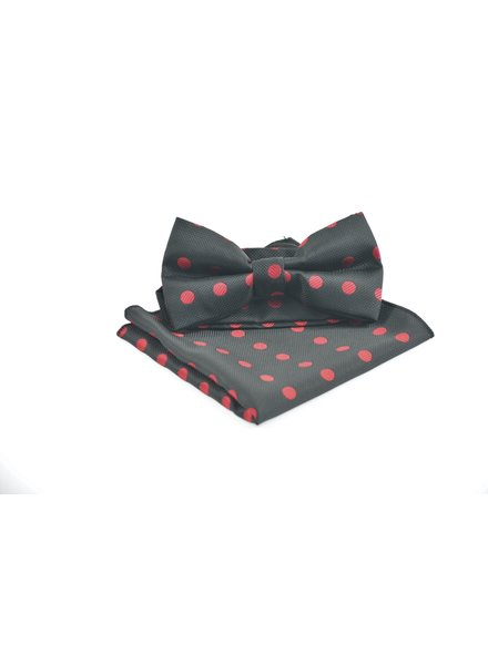 Black with Red Dots Bowtie