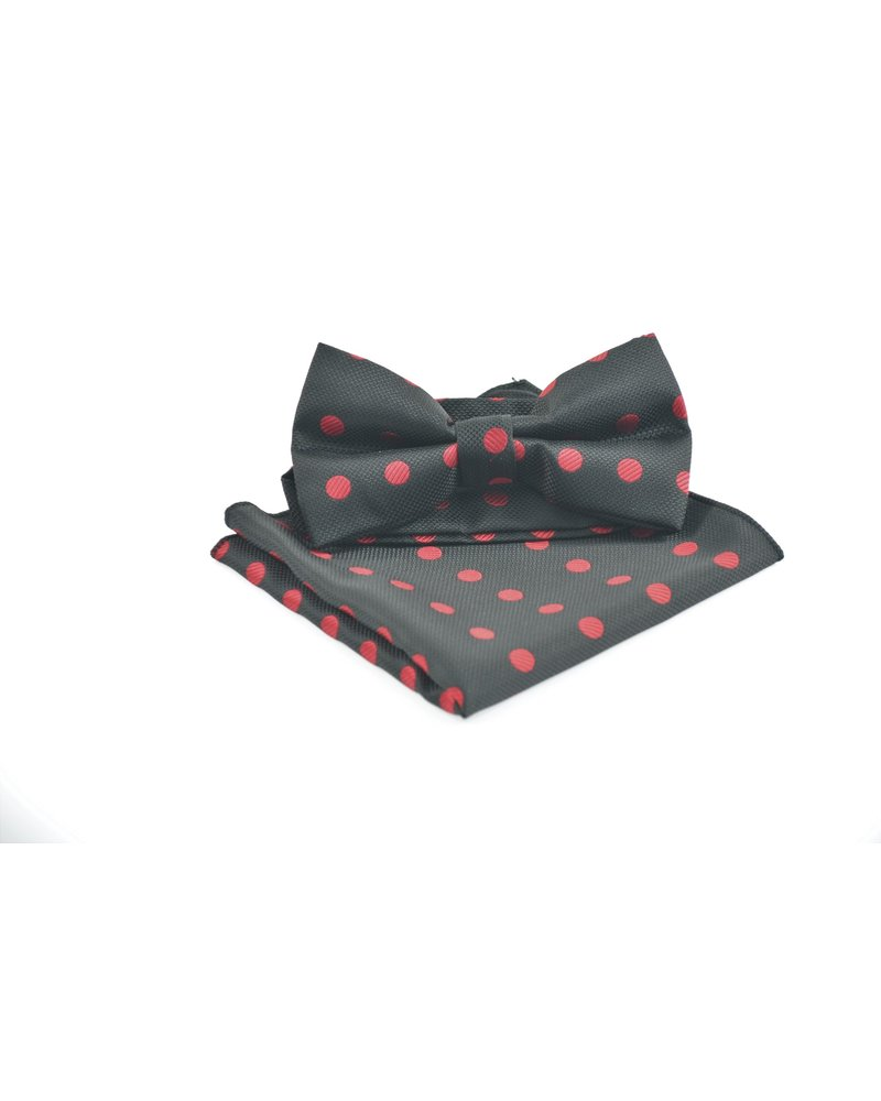 MONTEBELLO Black with Red Dots Bowtie