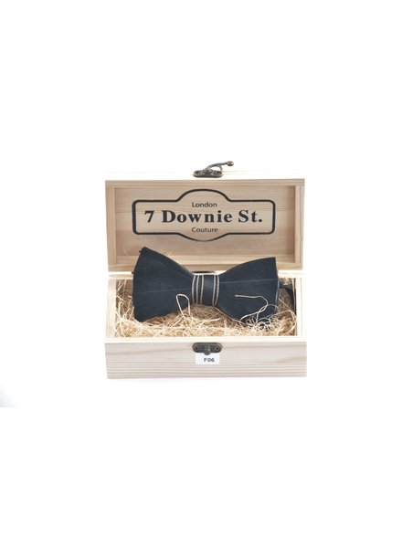 7 DOWNIE Black Feather Bowtie