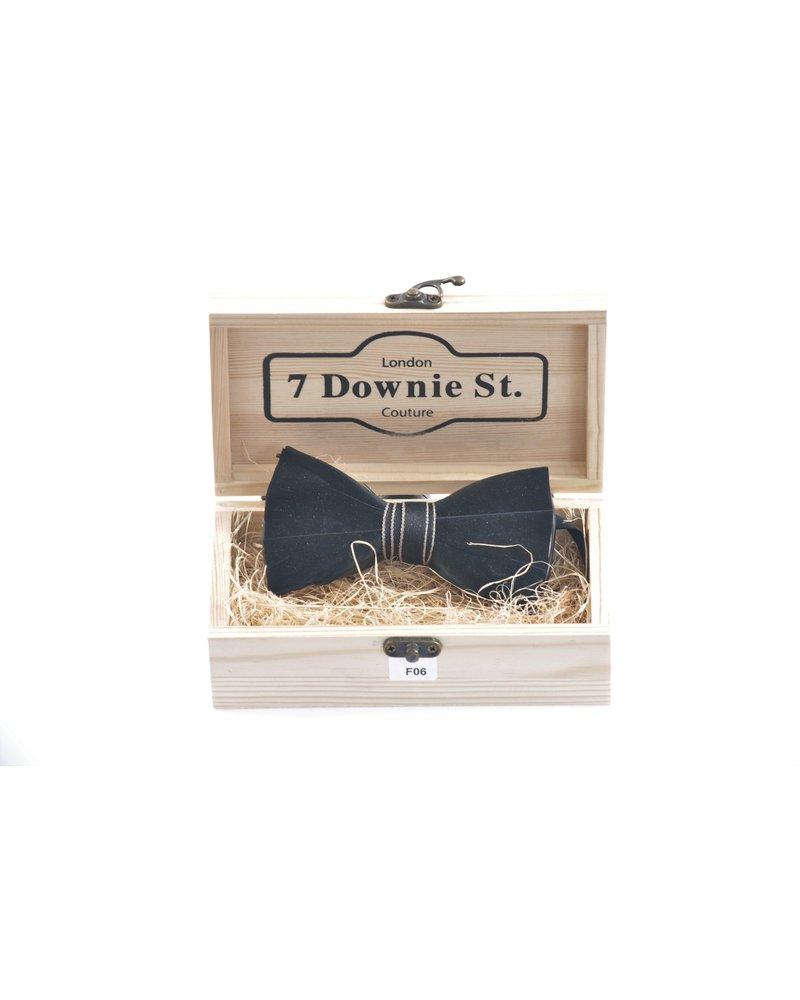 7 DOWNIE Black Feather Bowtie