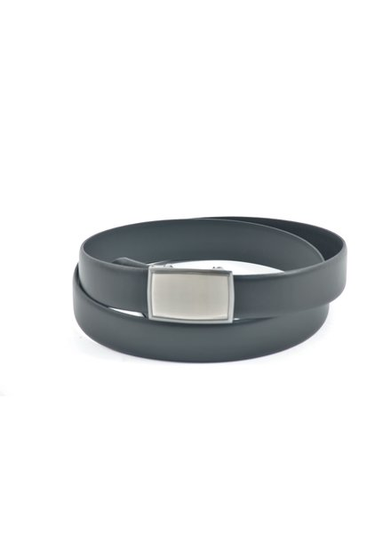 Lloyd Domed Leather Belt with Silver Automatic Buckle