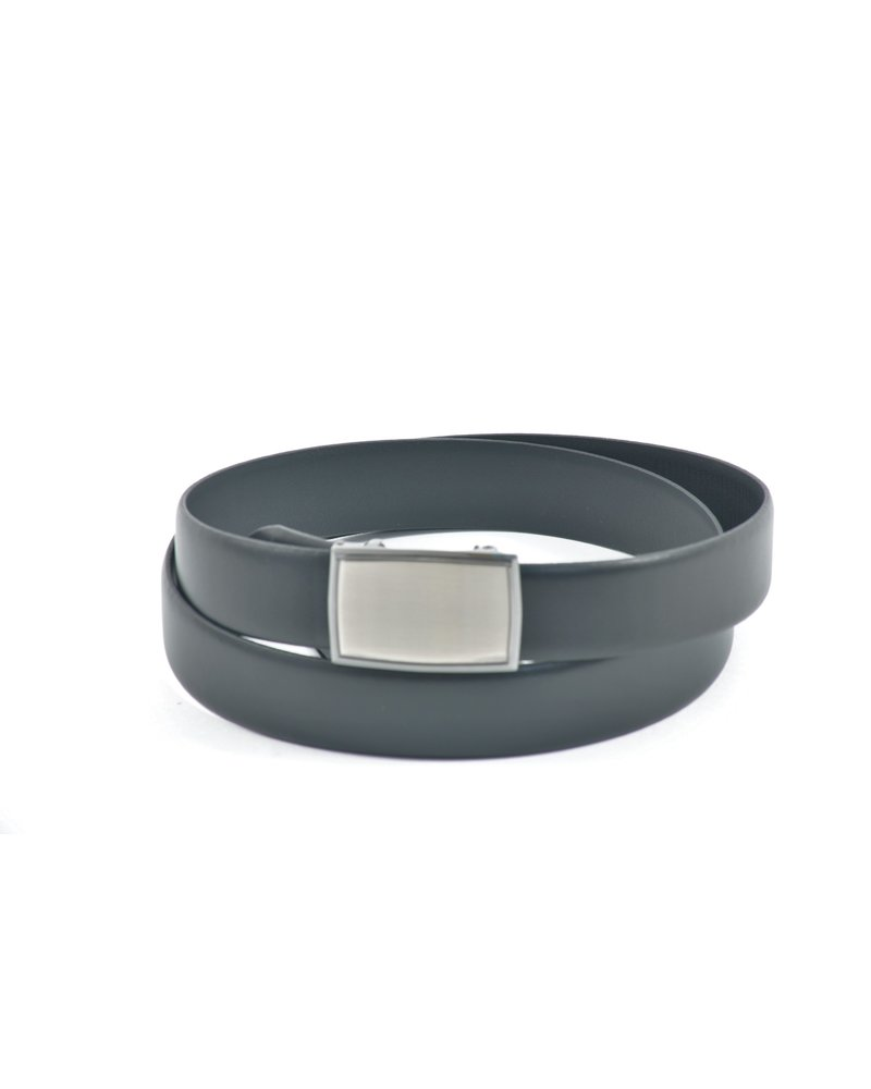 LLOYD Lloyd Domed Leather Belt with Silver Automatic Buckle