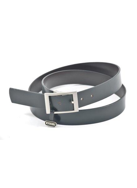 BENCHCRAFT Reversible Strap Nickel Clamp Buckle Belt