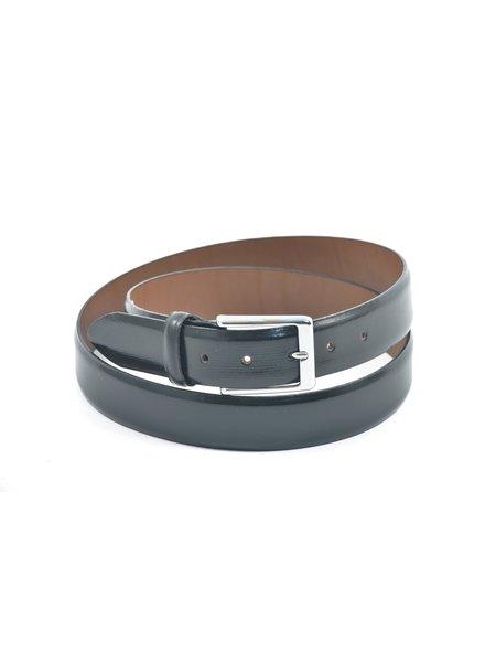 BENCHCRAFT Fine Basket Embossed Silver Buckle Belt