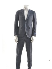 PAUL BETENLY Modern Fit Navy with Blue Block Suit