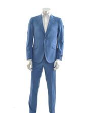 SUITOR Slim Fit  Hi Blue Suit