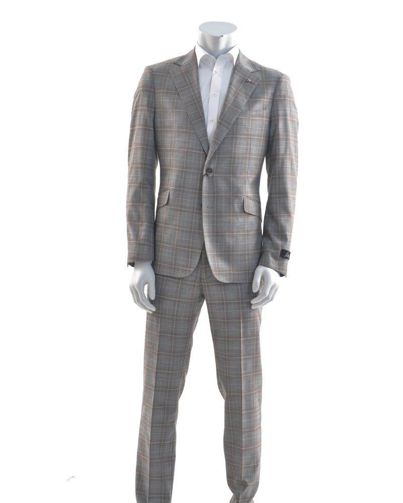 SUITOR Slim Fit Grey Rust Suit
