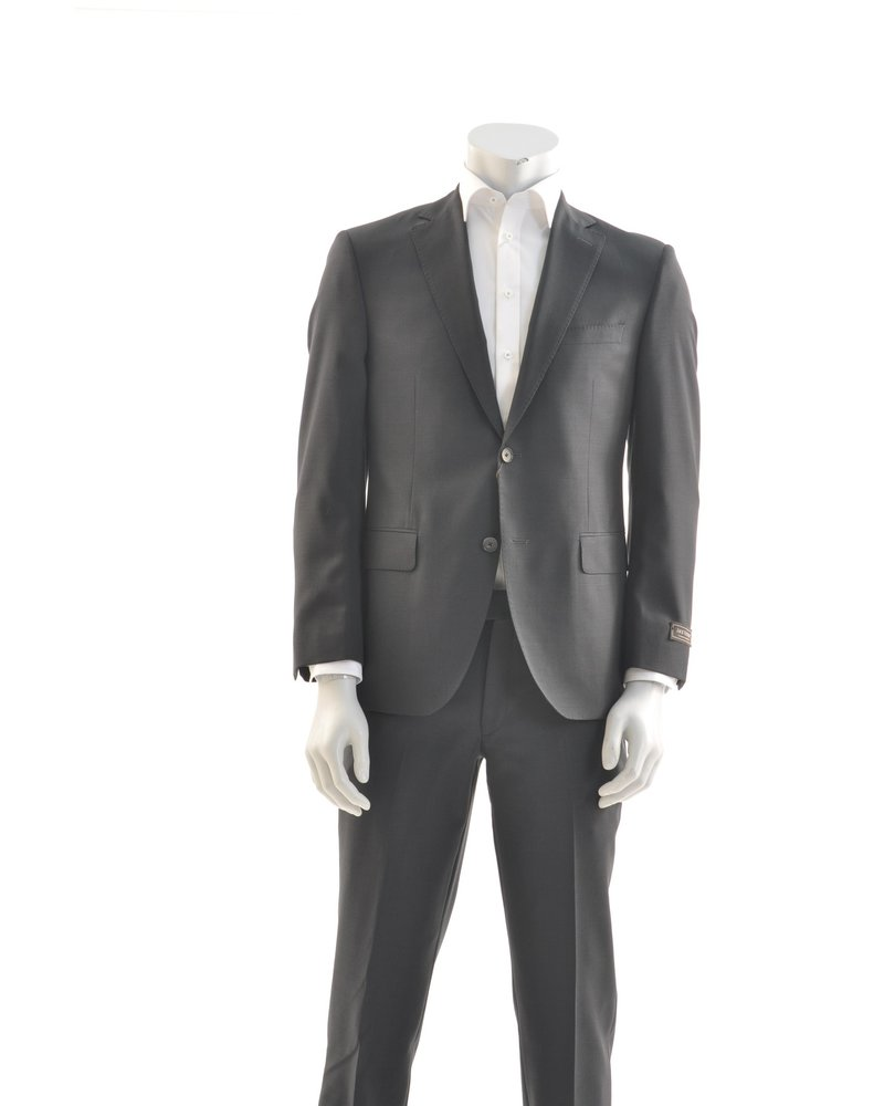 JACK VICTOR Modern Fit Black Neat Check Suit