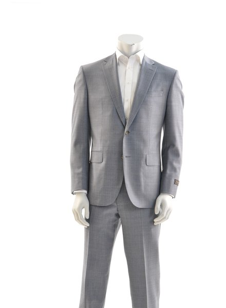JACK VICTOR Modern Fit Light Blue Mix Suit