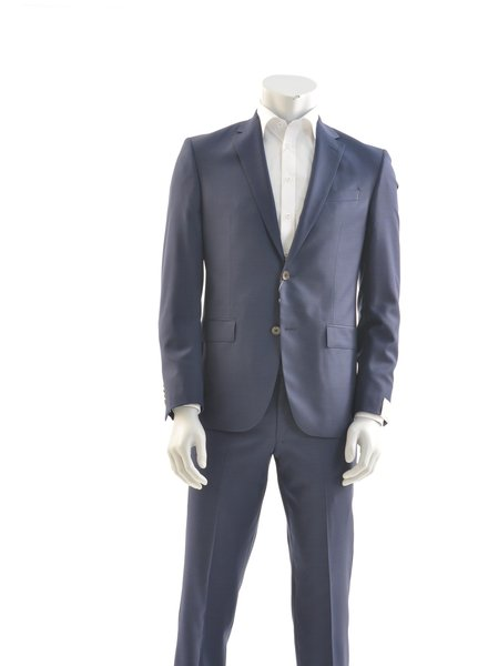JACK VICTOR Slim Fit Mid Blue Pin Dot Neat Suit