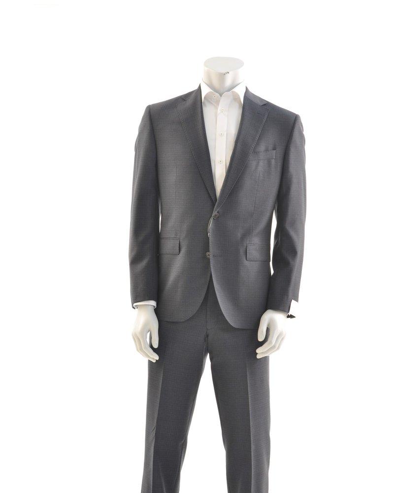 JACK VICTOR Modern Fit Navy Basket Weave Suit