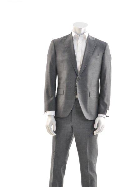 JACK VICTOR Modern Fit Grey Basket Weave Suit